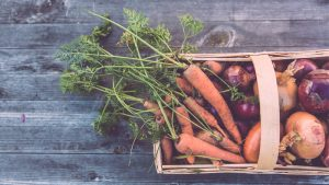 carrots in a basket - good for your eyes, helps delay cataracts
